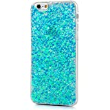 BubbleGum for iPhone Models MOONLIGHT GLITTER Amazing Look Soft Case Cover (iPhone 6 6s, Turquoise)