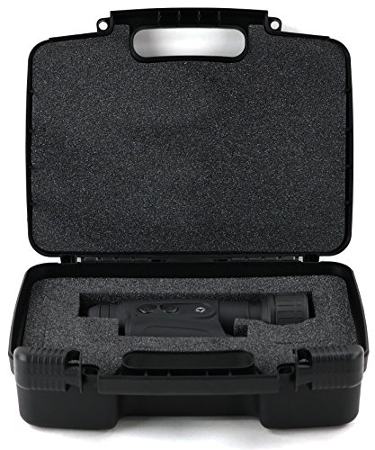 Hard Storage Carrying Case For Firefield Night Vision Monocular - Stores Polaris Explorer, Vortex Optics, Bushnell, Celestron, HDE, Carson w/ Lens Cleaner, Caps, Mini Tripod, Safely - Black
