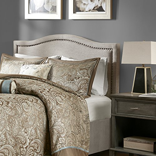Madison Park Nadine Upholstery Headboard Natural King ()