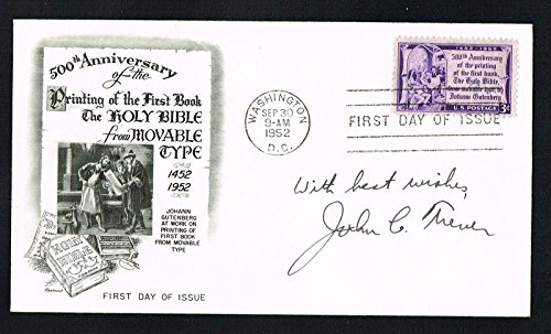 Day Cover First Collectible (John C. Trever (d. 2006) signed autograph First Day Cover FDC Dead Sea Scrolls)