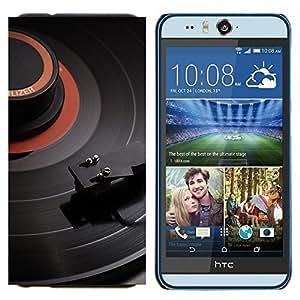 EJOOY---Cubierta de la caja de protección para la piel dura ** HTC Desire Eye M910x ** --Tocadiscos Vinilo Music Dj Music