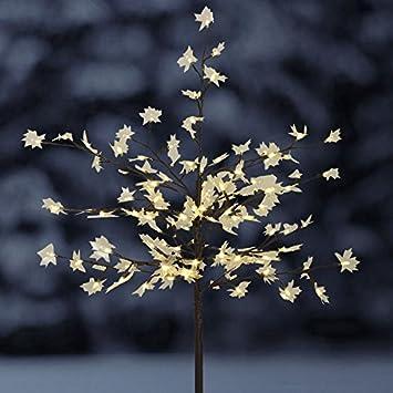 Solar Steckbaum Ahorn Mit 128 Led Beleuchtung Deko Baum Garten