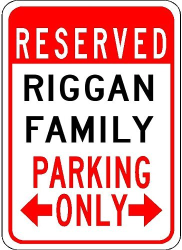 Metal Signs Riggan Family Parking - Customized Last for sale  Delivered anywhere in USA
