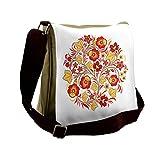 Lunarable Yellow And Red Messenger Bag, Wedding Flowers, Unisex Cross-body