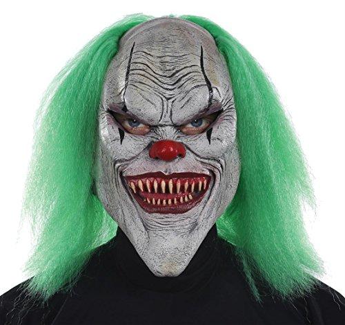 Evil Clown Latex Mask Adult Accessory