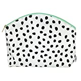 Waterproof Simple Clutch - Travel Toiletry Case, Cosmetic Makeup Bag, Multifunction Purse or Hand Bag Organizer, Diaper Clutch, Small Wet Bag (Spots)
