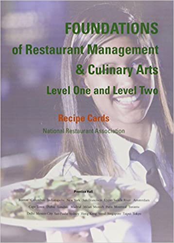 recipe cards for foundations of restaurant management culinary