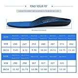 Plantar Fasciitis Feet Insoles Arch Supports Orthotics Inserts Relieve Flat Feet, High Arch, Foot Pain (Mens 10-10 1/2 | Womens 12-12 1/2, Blue2)