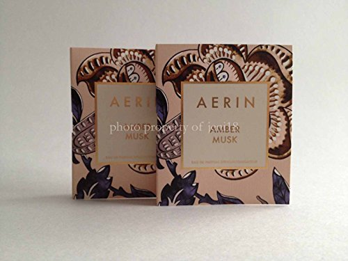 Set of Two: Estee Lauder Aerin Amber Musk Edp Eau De Parfum Travel Size Each 0.07 Oz/ 2ml by Estee Lauder