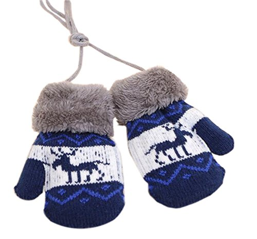 1 Pair Baby Gift Gloves Warm Winter Gloves with String [Deer] by Black Temptation