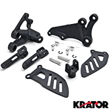 Suzuki GSXR 600 2006-2010 / GSXR 750 2006-2008 (Front) Foot Rests Assembly Kit Frame Fitting Stay Footrests Step Bracket Assembly