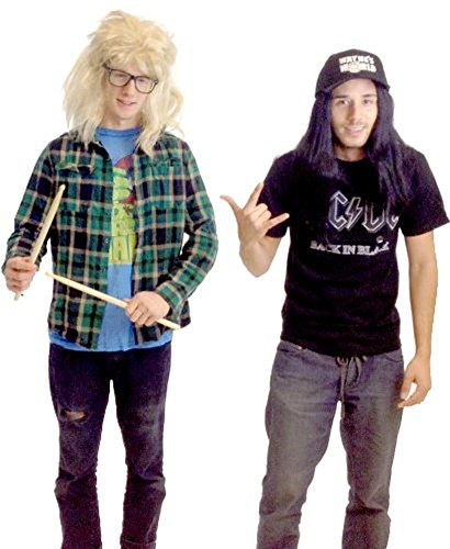 (TV Store Wayne's World Garth and Wayne Costume)