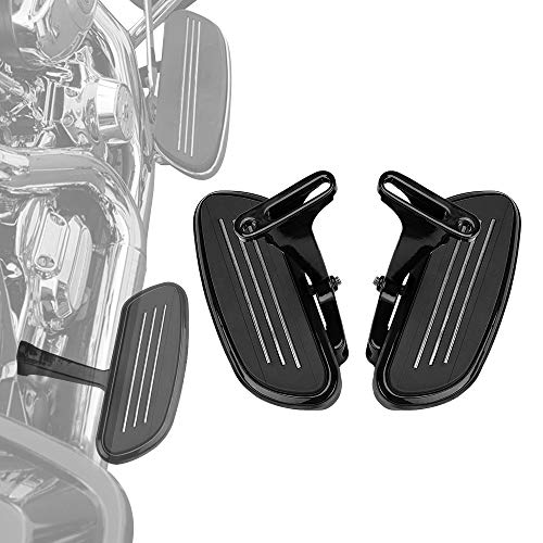 Footboard Kit (Passenger Floorboards Floor Boards with Mount Bracket Kits for Touring Road King Street Glide 1993-2019 Footboards Black)
