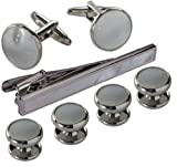 blackbox Jewelry Cufflink and Studs Set for Men with Gift Box