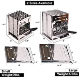 Domaker Wood Burning Camp Stove,304 Stainless Steel