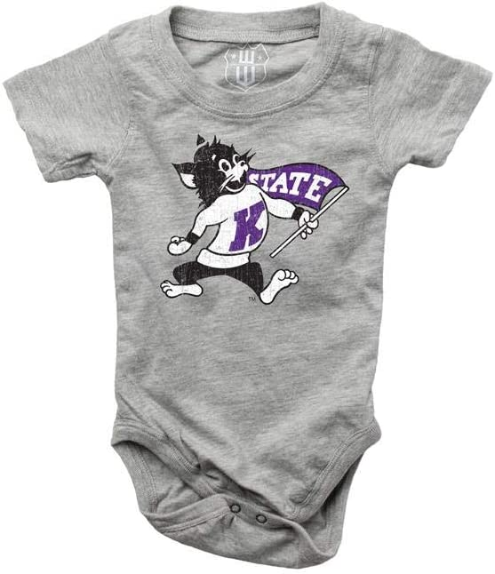 12 M Wes and Willy Infant Kansas State University Bodysuits 3 Pack Organic Cotton Set