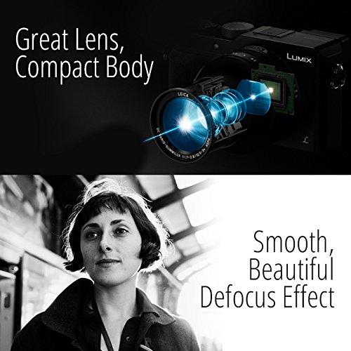 PANASONIC LUMIX LX100 4K Point and Shoot Camera, 3.1X LEICA DC Vario-SUMMILUX F1.7-2.8 Lens with Power O.I.S, 12.8 Megapixel, DMC-LX100K (USA BLACK)