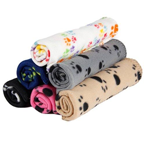 Pet Blanket, Dog Cat Warm Reversible Fleece Mats ,Pet Sleep