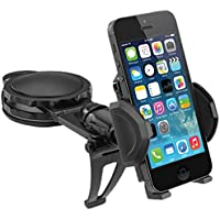 Macally Dashboard Car Phone Holder Mount for iPhone X 8 8+ 7 7 Plus 6s Plus 6s 6 SE Samsung Galaxy S8 Plus S8 Edge S7 S6 Note etc. (DMOUNT)