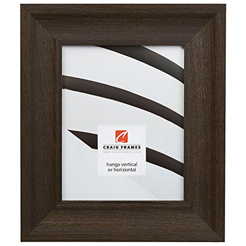 "20x24 Picture/Poster Frame, Wood Grain Finish, 2.5"" Wide, Weathered Black (2.5DRIFTWOODBK)"