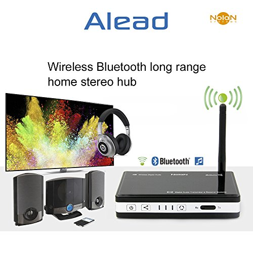 Alead Nolan TRX HDM2 Wireless Home HD MultiLinks Stereo Audio Transmitter and Receiver (A2DP), Long range, digital audio Optical, SPDIF. For TV, home theater, iPad, Bluetooth speakers, ()