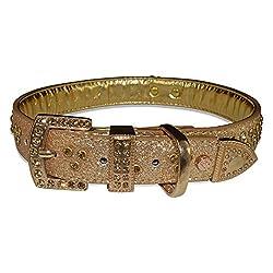 Vanderpump Pets Signature Diamond Name Plate Leatherette Collar