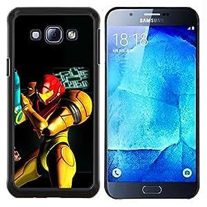 Qstar Arte & diseño plástico duro Fundas Cover Cubre Hard Case Cover para Samsung Galaxy A8 A8000 (Metr0Id Superhero)