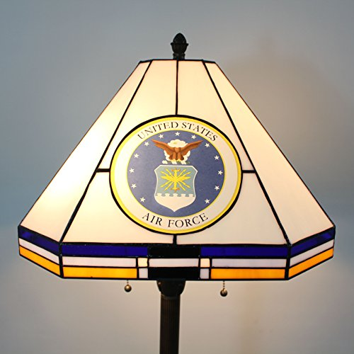 16-inch NCAA Air Force Falcons Stained Glass Square Floor Lamp