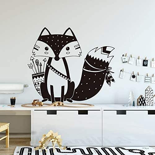 Lovely Fox Animal Wall Stickers Wall Decals for Kids Rooms Baby Room Decoration Bedroom Decor Mural n1 30x34cm