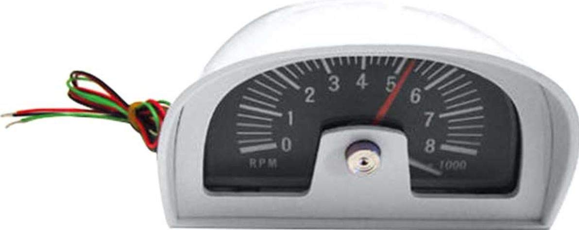 1960s-1970s Hood Tachometer DIXCO Style 8000 RPM 8 Cylinder Only Pontiac. Chevy Olds