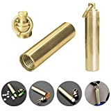 AYAMAYA Pill Case [2 Pack], Solid Brass Waterproof Pill Fob Holder With Key Ring Plus 3 Spare O-ring Small Medicine Holder Container Box Portable EDC Tool For Keychain Outdoor Travel Survival Camping
