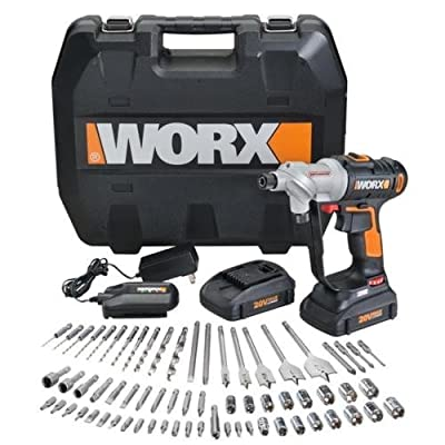 WX176L.1 WORX 67 pc. 20V Lithium Switchdriver Cordless Drill & Driver Set