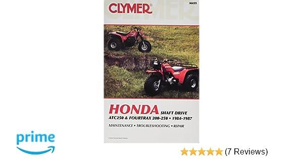 1986-1987 Honda ATC250SX Repair Manual Clymer M455 Service Shop Garage