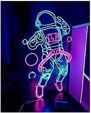 Wall Lights Neon Astronaut Neon Signboard Wall Decoration Billboard Neon Color Wall-Mounted Window Lamp Fashio