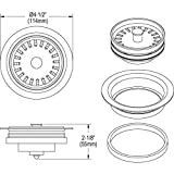 Elkay LKQD35MA Polymer Disposer Flange with