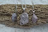 Lepidolite Stone Earrings and Necklace Set