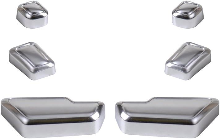 Beler 6pcs Auto Innenraum Tür Sitz Einsteller Knopf Schalter Abdeckung Trim Auto