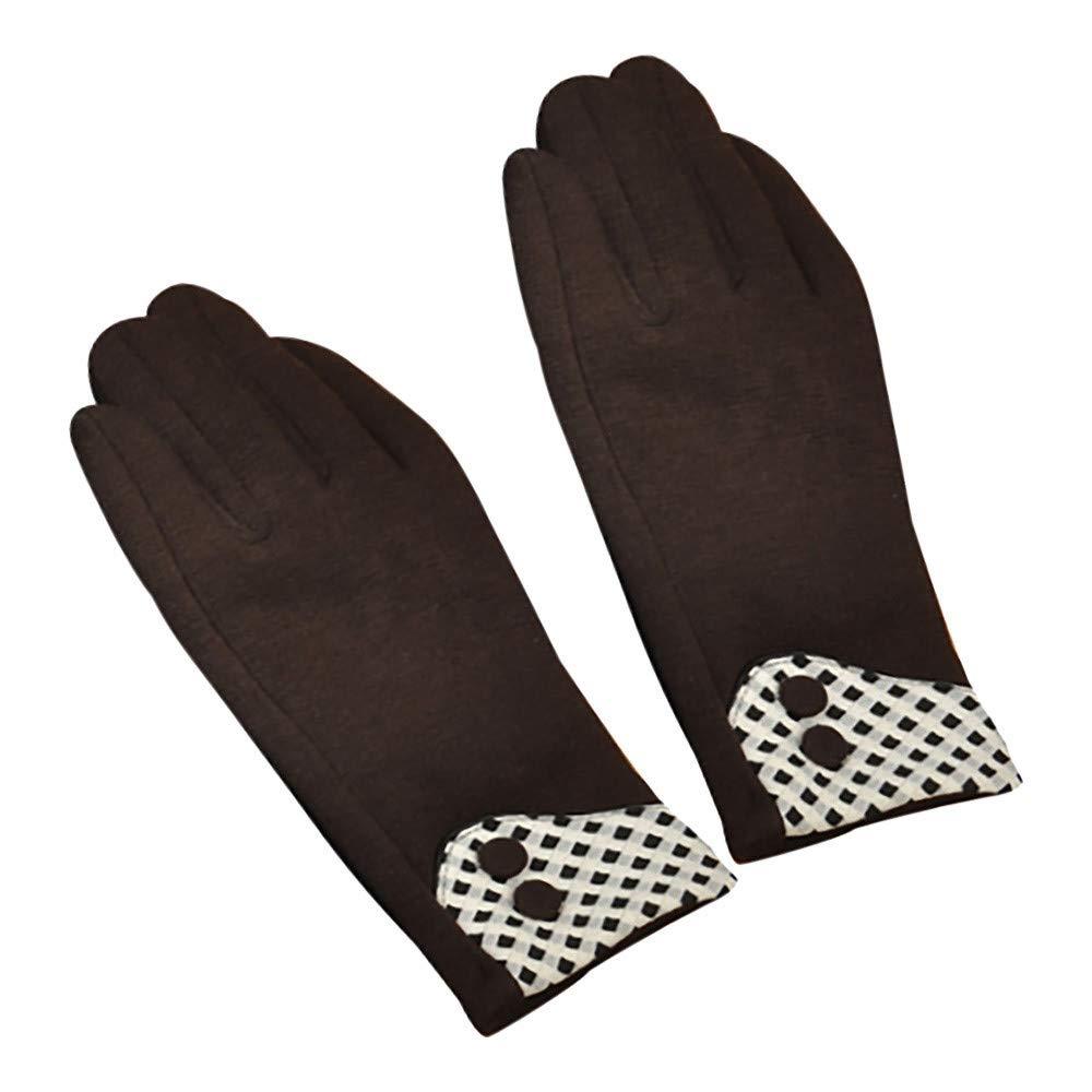 NUWFOR Adult Women Men Winter Hand Wrist Warmer Flip Cover Fingerless Gloves ?Brown,Free?