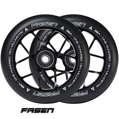Fasen Scooters Jet Wheels 110mm (Pair) (Black)