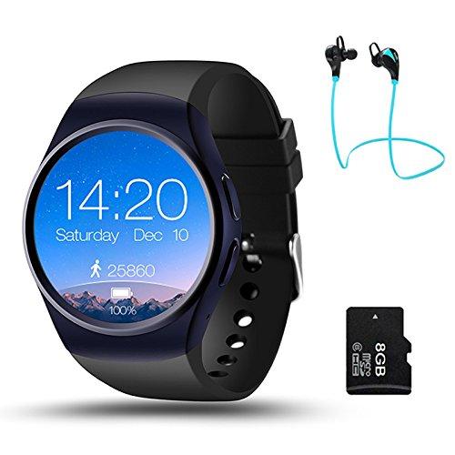 Amazon.com: layal KW18 Bluetooth smart watch full screen ...