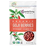 Cheap Essential Living Foods Organic Goji Berries, Dried, Highest Quality, Responsibly Grown Wolfberry, Vegan, Superfood, Non-GMO, Gluten Free, Kosher, 6 Ounce Resealable Bag