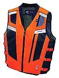 Olympia Moto Sports MV306 Blaze Hi-Viz Safety Vest (Neon Orange/Black, XXX-Large/4X-Large)