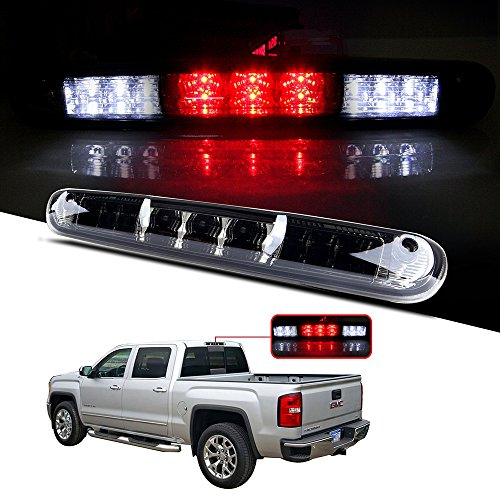 cciyu LED 3rd Brake Lights Cargo Lamp Assembly Automotive Tail Lights Smoke Lens Replacement fit for 2007-2013 Chevy Silverado/GMC Sierra