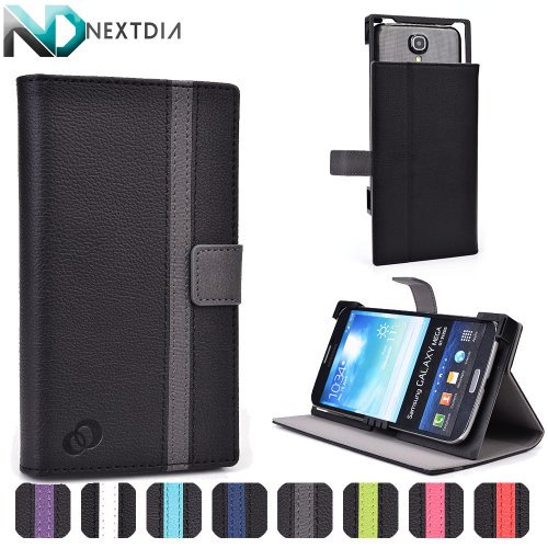 Asus Fonepad Note FHD6 Case Cover with Slide Backing for Camera Access | Black and Smoke Grey + ND Velcro Tie