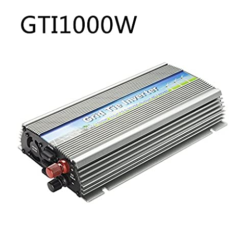 uxcell Pure Sine Wave Grid Tie Solar Inverter 1000W 10.5-30VDC to 90-140VAC with MPPT for 12V Solar Panels(Vmp18V)