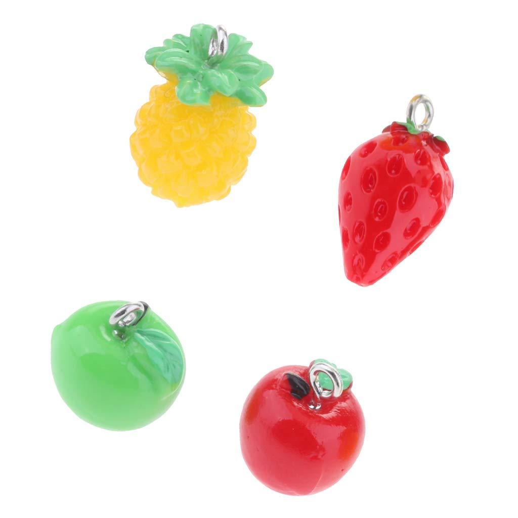 non-brand MagiDeal 4Pcs Dollhouse Mini Fruit Ornement Micro Paysage F/ée Jardin D/écoration DIY