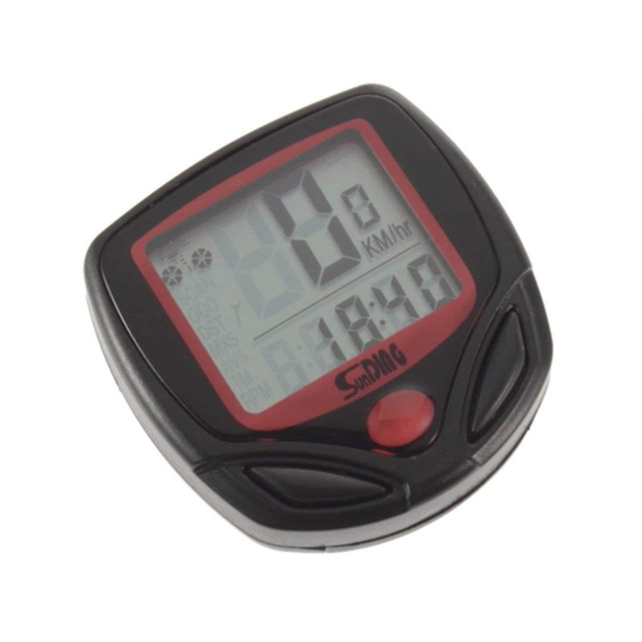 Dailyinshop Contachilometri per Bicicletta Contachilometri per Bici Contagiri LCD per Computer LCD Contachilometri contachilometri Cronometro per Bici SD-548B