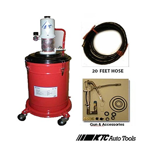 5 Gallons Air Operated High Pressure Grease Pump (20FT Long Hose) (Air Grease Pump For 5 Gallon Bucket)