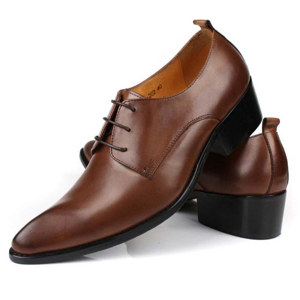 GLSHI Herren Geschäft Schuhe Spitze Schuhe Spitze Mode Arbeit Hochzeit Schuhe Haben 37 Yards