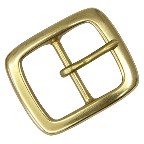-  Men's Center bar belt buckle Solid Brass Single Prong Belt Buckle 1 1/2